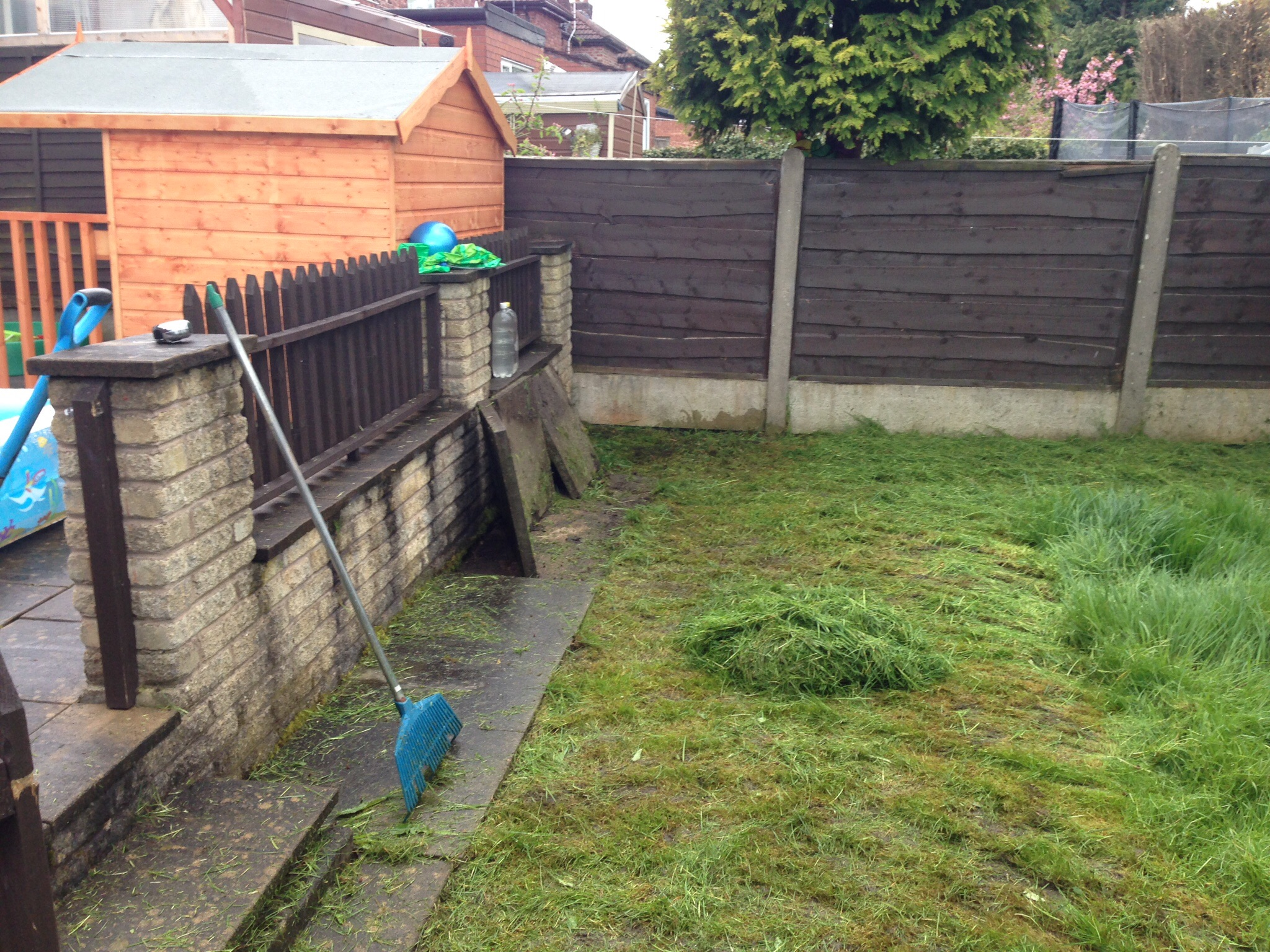 Landscaping Muddy Yard : Muddy lawn transformed into a childs safer play area